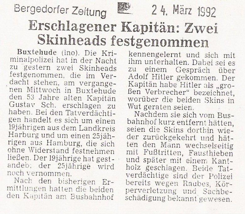 Bergedorfer Zeitung 24.03.1992