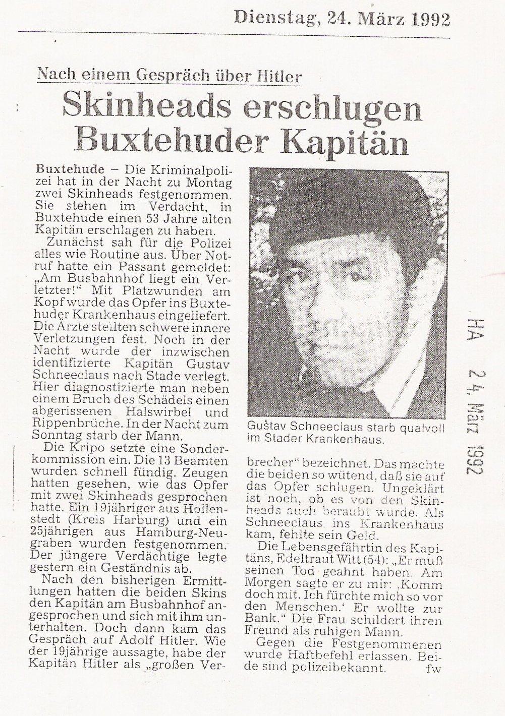 Hamburger Abendblatt2 24.03.1992