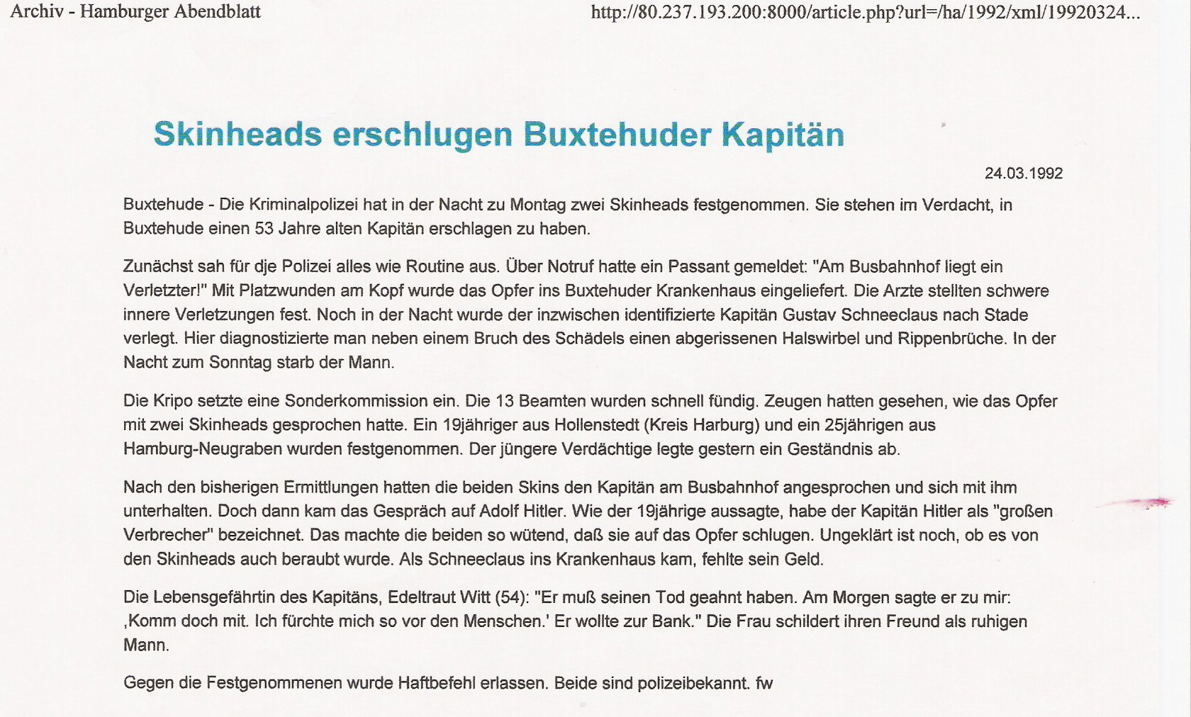 Hamburger Abendblatt1 24.3.1992