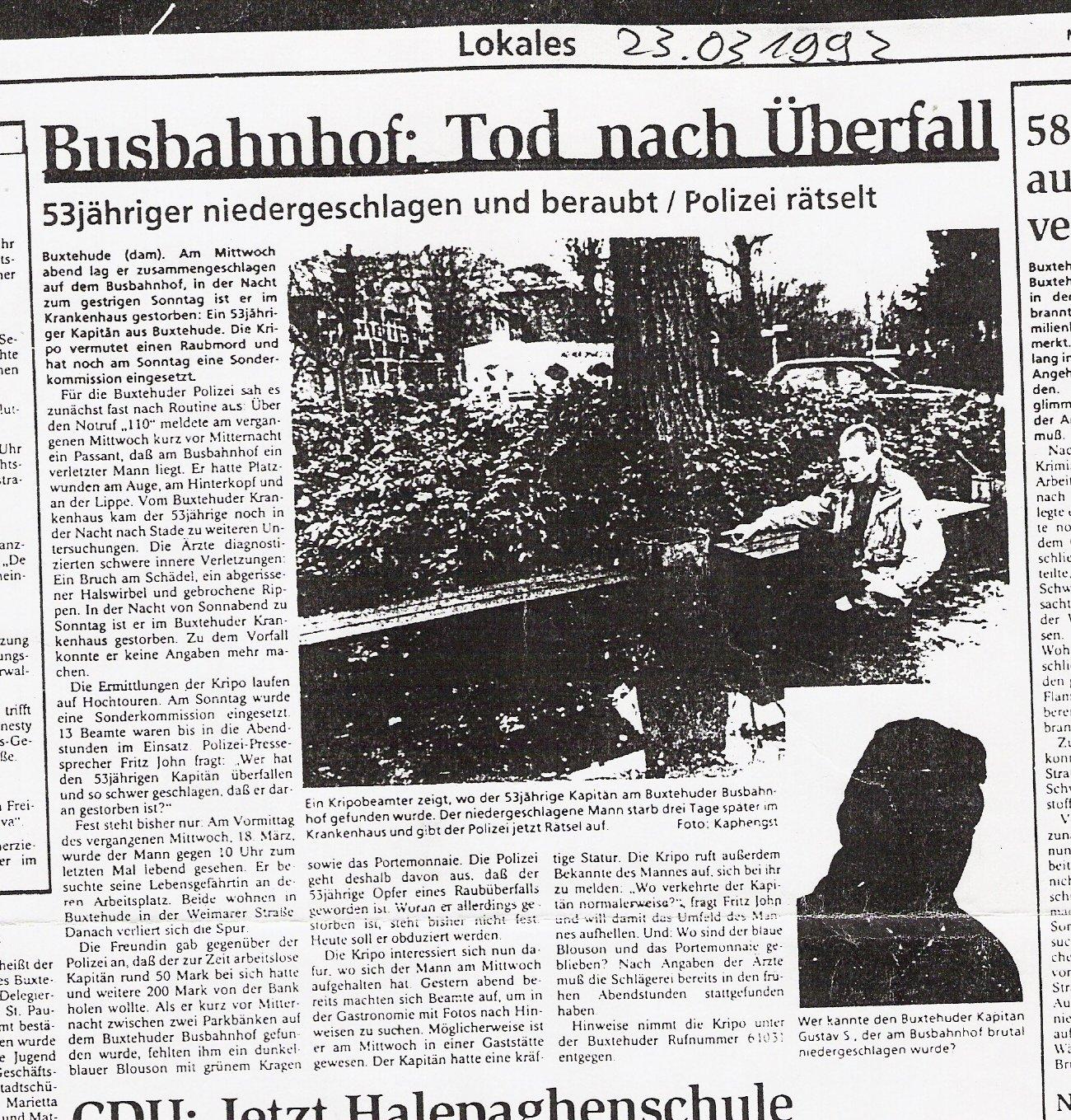 Tageblatt 23.03.1992