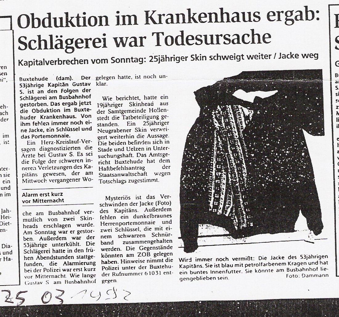 Tageblatt 25.03.1992